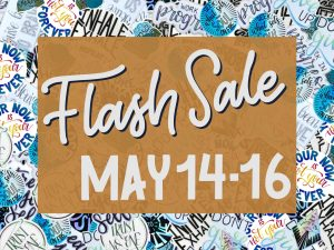 "Banner image reading ""Flash Sale May 14-16"""